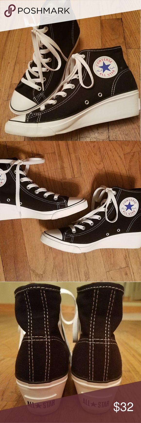 Converse Wedge Sneakers Gently worn Converse wedges. In great condition! Converse Shoes Sneakers