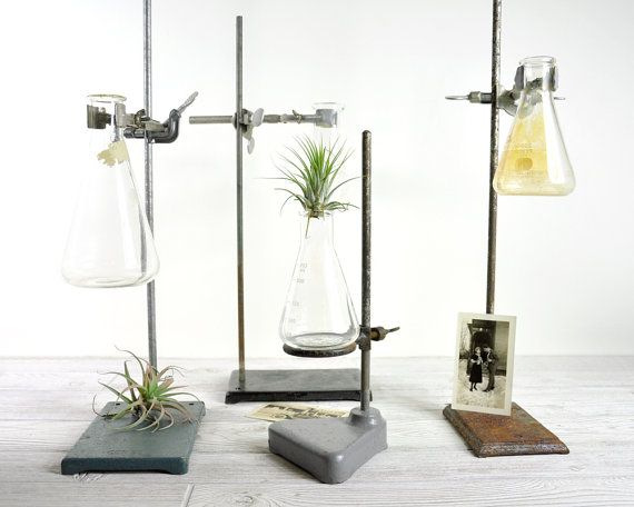 Vintage Industrial Laboratory Stand / Lab Metal Stand / Industrial Decor