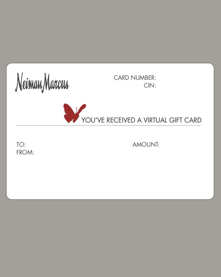 NM Virtual Gift Card, $25