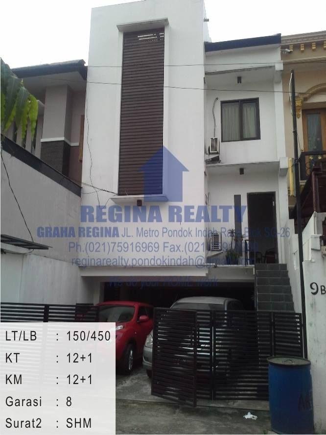 DIJUAL Rumah Kost Radio Dalam 150/450 m2, 3LT, 12+1 KT, 12+1 KM, Garasi muat 8 mobil,Jalan Cukup 2 Mobil, SHM / IMB. Harga 6,5 M (Nego) Regina Realty (ANDRI) : 021 9447 1909