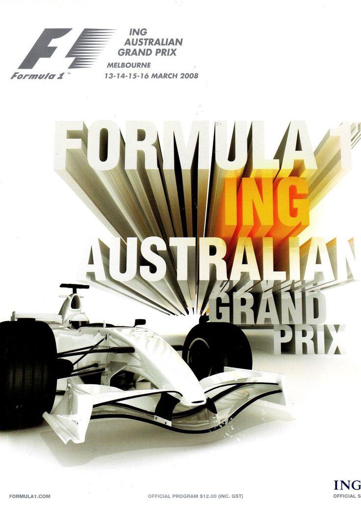 786GP - 2008 FORMULA 1 ING AUSTRALIAN GRAND PRIX PROGRAMA
