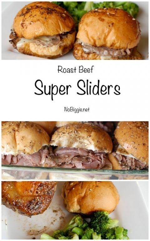 Roast Beef Super Sliders   NoBiggie.net