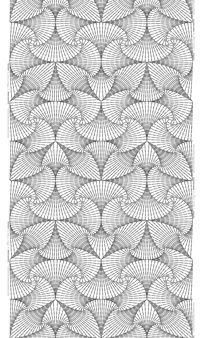Kussens met het patroon Vectorine, ontworpen door Katarina Widegren voor Frösö Handtryck in Jämtland, Zweden.   VECTORINEskifferMETERVARA