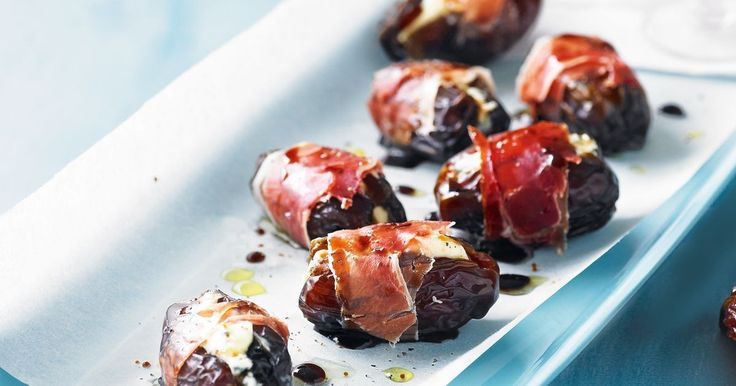 The sweetness of fresh dates is balanced by salty prosciutto in these tasty canapés.