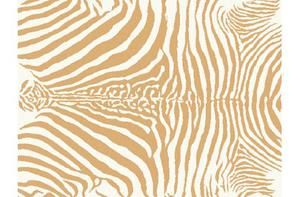 Matta Sebra guld/beige 140 x 200
