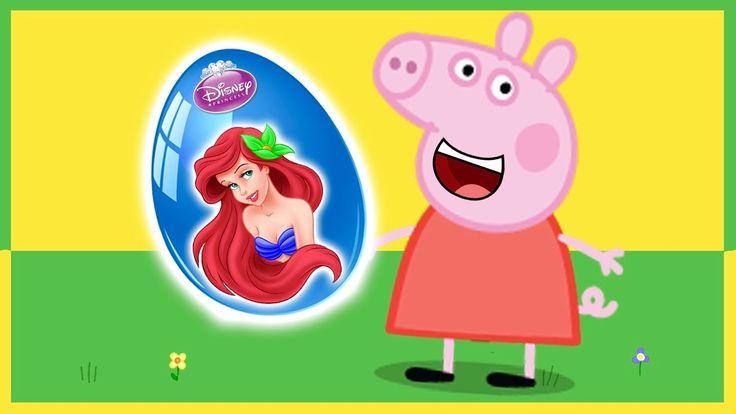 Свинка Пеппа мультик с игрушками Пепа открывает Киндер Сюрприз Дисней П...