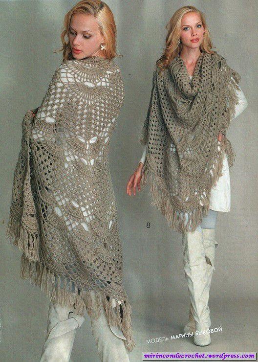 Les dejo otro chal fantástico!!!! | Mi Rincon de Crochet                                                                                                                                                      Más