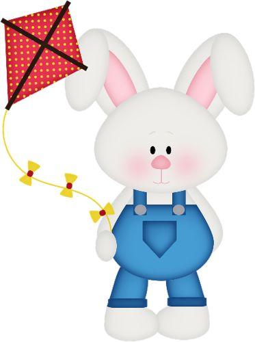 Bunny flying kite