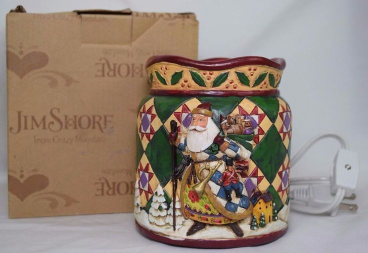 Jim Shore Christmas Candle Electric Tart Warmer Santa Clause Winter Toys Snow