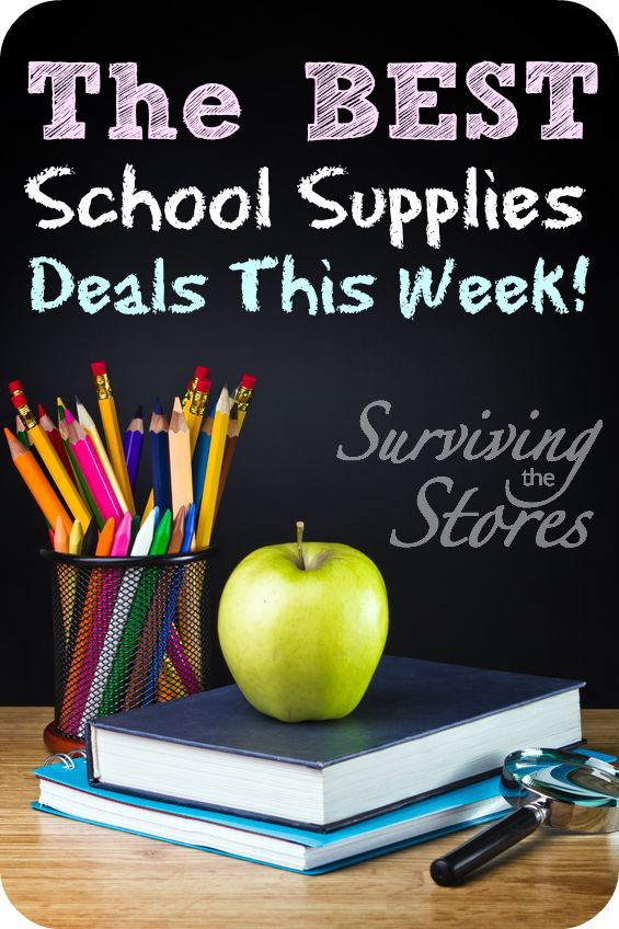 Find all of the best back to school deals for this week!!  All of the school supplies you need at their ROCK BOTTOM prices!