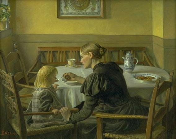 Fritz Syberg Moder og datter
