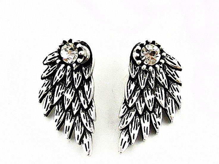 Ohrstecker - ANGEL Elfen Flügel Ohrstecker Ohrringe Boho silber - ein Designerstück von SpreeGold-Berlin bei DaWanda