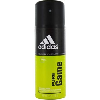ADIDAS PURE GAME by Adidas DEODORANT BODY SPRAY 4 OZ (DEVELOPED WITH ATHLETES)