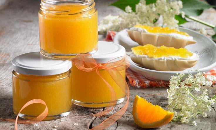 Orangen-Holunderblütengelee Rezept   Dr. Oetker