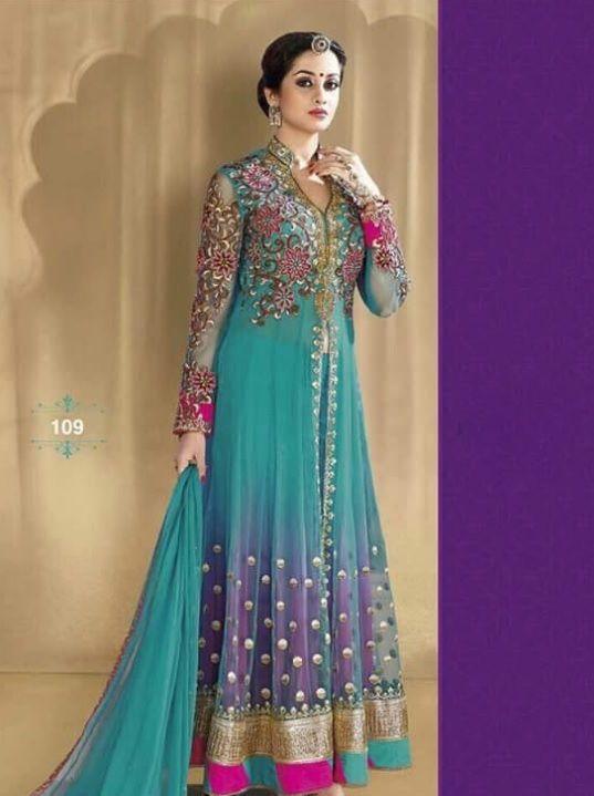 Indian Pakistani Anarkali Suit Bollywood Eid 2017 Designer Salwar Kameez Be #FashionBazar01 #Cocktail