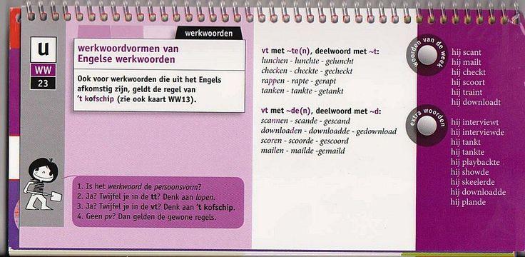 Werkwoordsvormen van Engelse werkwoorden (groep 8)