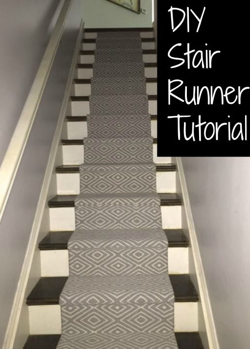 DIY Stair Runner Tutorial. Great way to quiet stairs and make them less slippery.