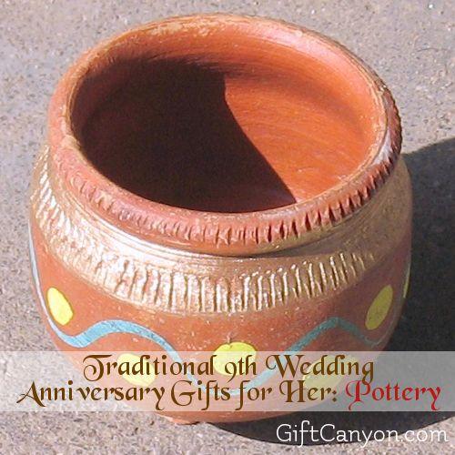 9th Year Wedding Anniversary Gift: 9th Year: Pottery Wedding Anniversary Gifts For Her