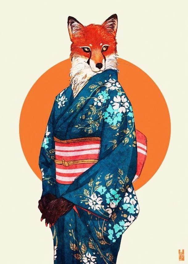 ANTHROS – 20 superbes illustrations d'animaux humanisés !