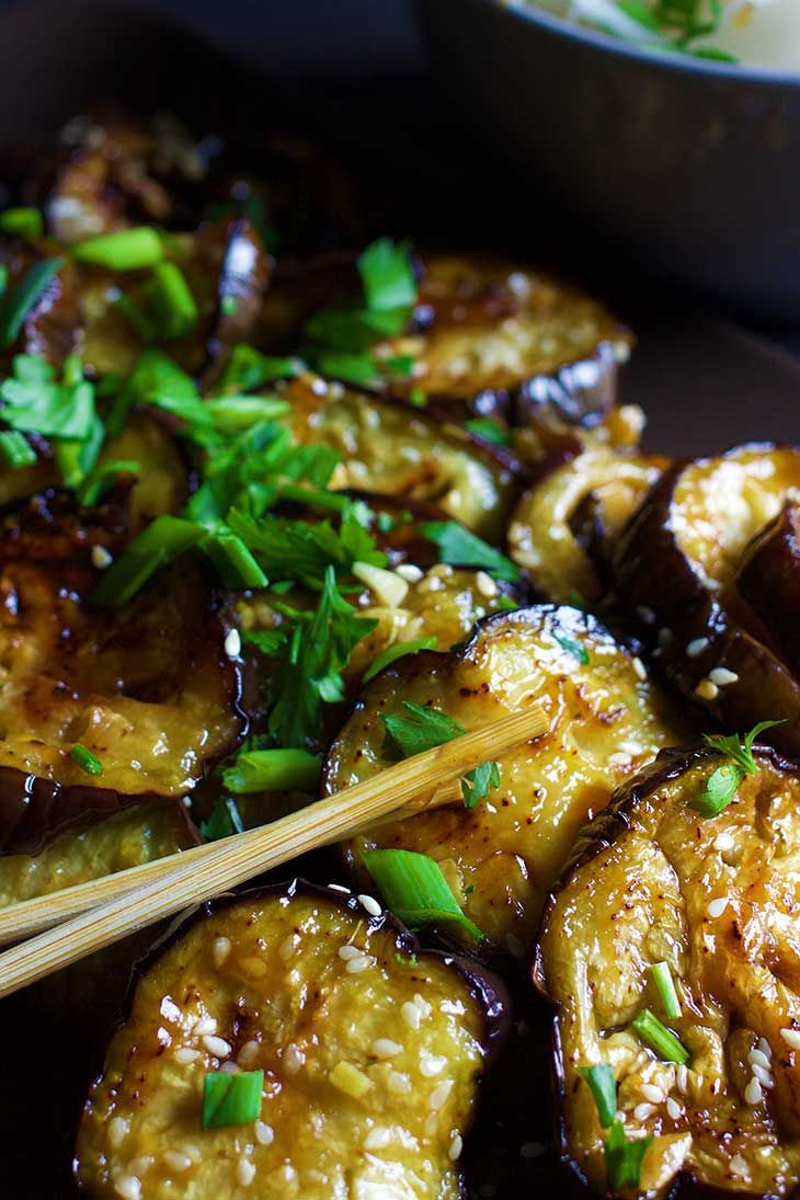 chinese eggplant with sticky garlic sauce