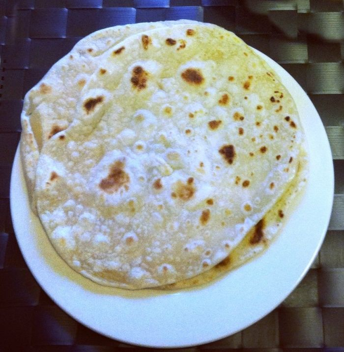 Serves 8 Makes 16 I love these delicious rotis. So quick and simple. The perfect partner to any curry. Ingredients 500g flour 240g water 60g sunflower oil 1/2 teaspoon salt How to Place all the in…
