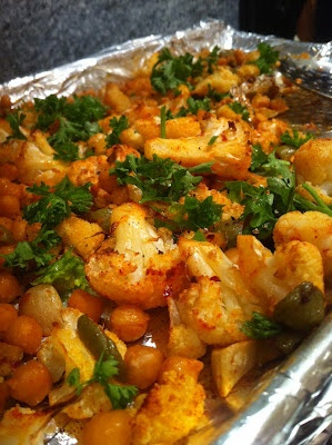 Roasted cauliflower, chick peas and olives from www.inspiredchunkymama ...