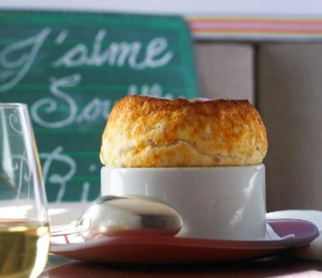Rise Dallas Ham and Cheese Souffle. I'm so going here and then baking these babies up myself.