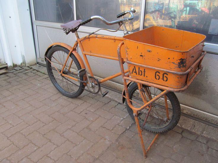 Oldtimer Lastenfahrrad Kurierrad Postrad Transportrad Bäckerrad Fahrrad 26 Zoll