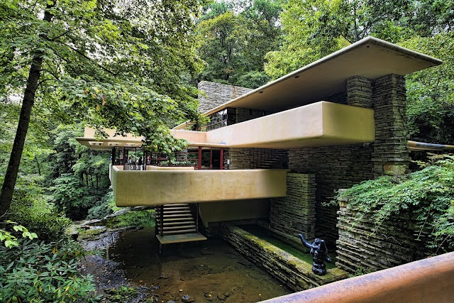 "Frank Lloyd Wright's ""Falling Water"" house"