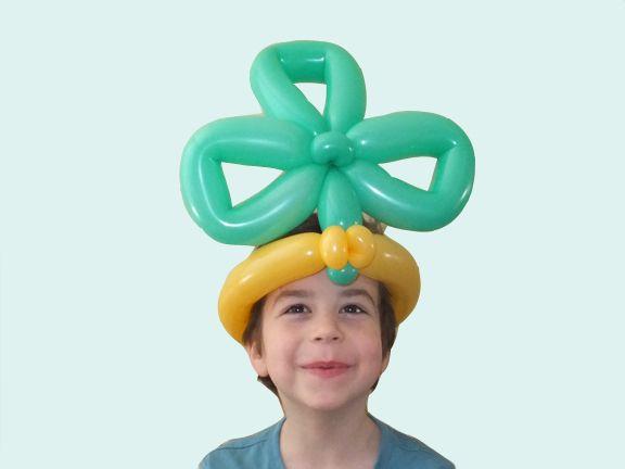 Клевер трилистник шапка из воздушных шариков