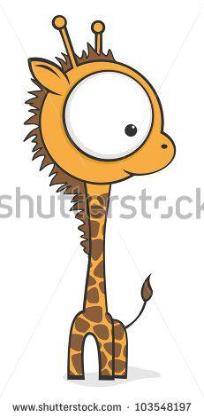 cute cartoon baby giraffe with huge eyes stock vector cartoon vector art cartoon vector kit