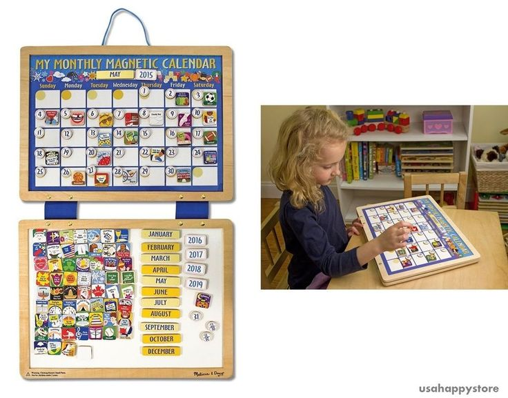 Melissa And Doug Magnetic Calendar Dry Erase Board Kids