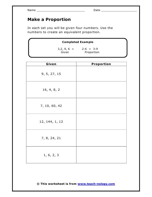 proportions worksheet for my 7th grade classroom pinterest proportions worksheet. Black Bedroom Furniture Sets. Home Design Ideas