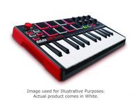AKAI MPK Mini MkII Compact 25 Key MIDI Keyboard Controller with Pads in White | Full Compass