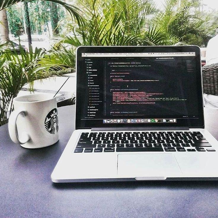 Awesome coding views! @rainierio . . . #startup #programmer #programming #coder #coding #code #developer #engineer #macbook #workhard #detroit #district #softwareengineering #html #css #javascript #php7 #framework #java #yii2 #codinglife #codingisfun #codingview