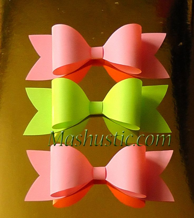 How To Make An Easy Paper Bow Step By