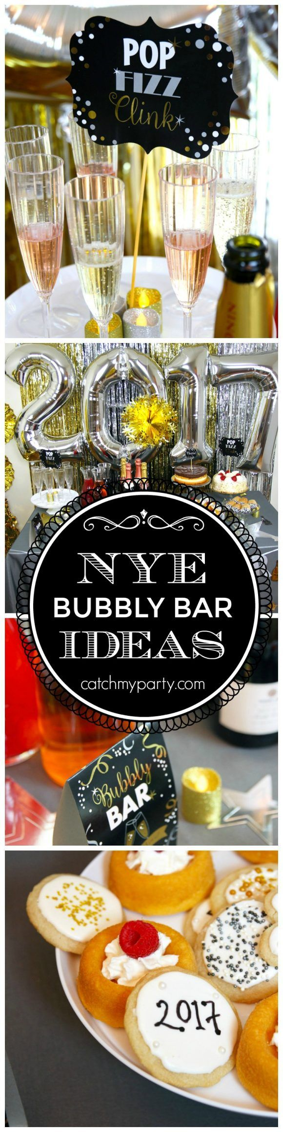 New Year's Eve Champagne Bar Party Ideas | The Catch My Party Blog | Bloglovin'