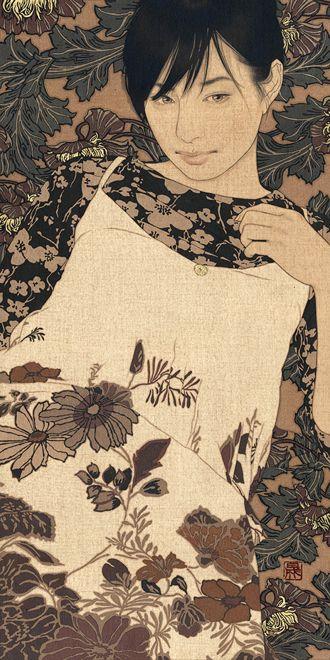 Ikenaga Yasunari: Japanese Mineral Pigment Painting