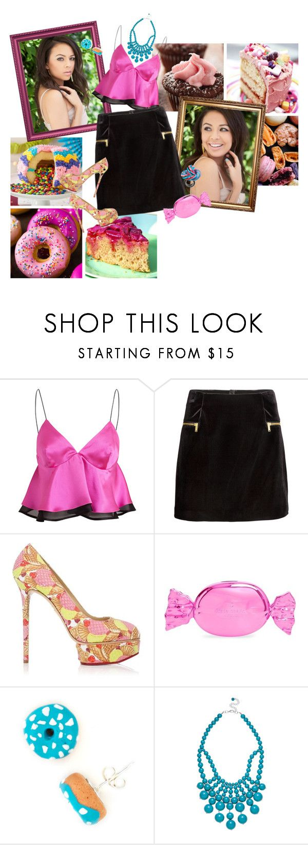 """""""Ginger Breadhouse"""" by srta-sr ❤ liked on Polyvore featuring Nordic Ware, Trager Delaney, H&M, Charlotte Olympia, Kate Spade, Papabubble and Ashley Stewart"""