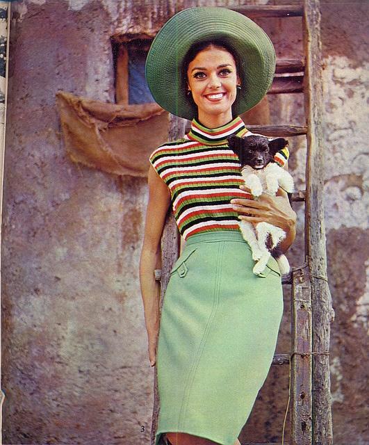 1960s green stripes   via sonobugiardo