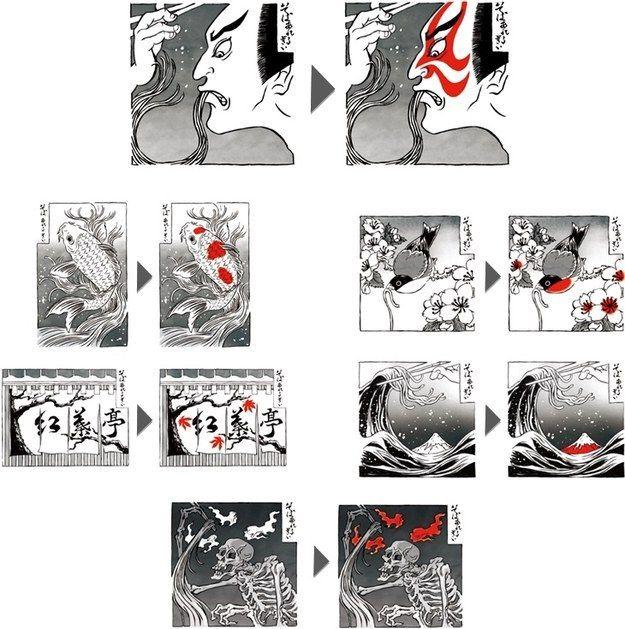 全部で6つのデザイン。   「おみやげに買って帰りたい」外国人向けのそばアレルギーチェック こうして生まれた