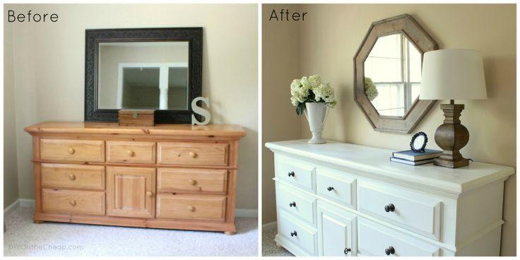 Awesome bedroom dresser makeover!