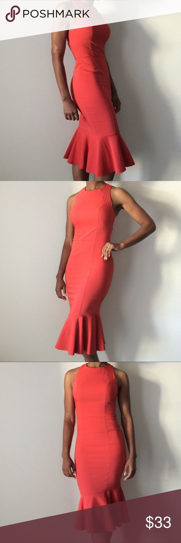 ASOS Tall burnt orange dress A great party dress or date night dress. It is a size 2 Tall. Asos Dresses Midi