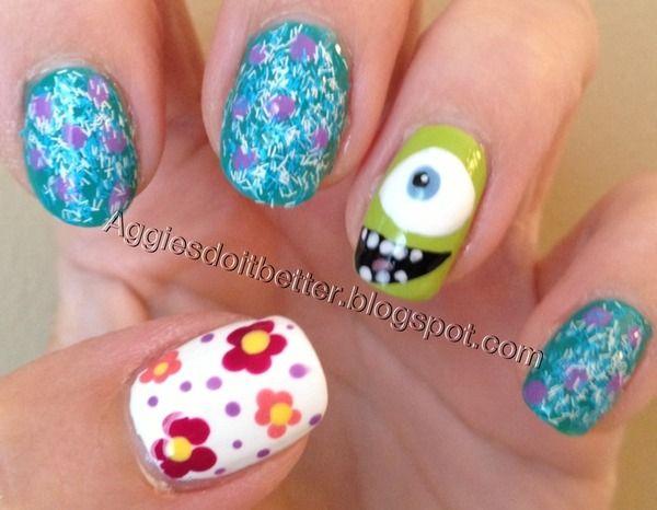 monsters inc / monsters U nails!