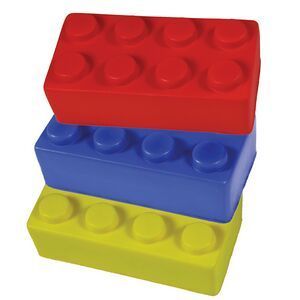 Construction Blocks Squeezies Stress Reliever