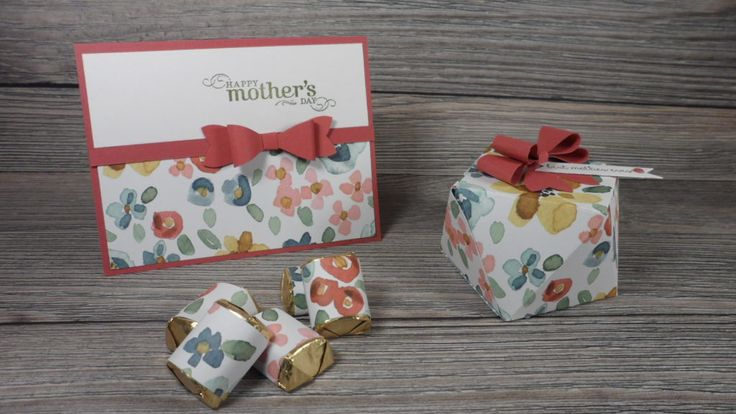 Mother's Day gift set including card, Hershey's Nuggets and Faceted Gift Box designed my Stampin' Up demo Beth McCullough www.StampingMom.com #StampingMom #Stampinup #Faceted box