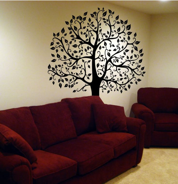 Tree Wall Decal Deco Art Sticker Mural Size: 72 H X 56 W Colors Available:  Black, White Or Dark Brown