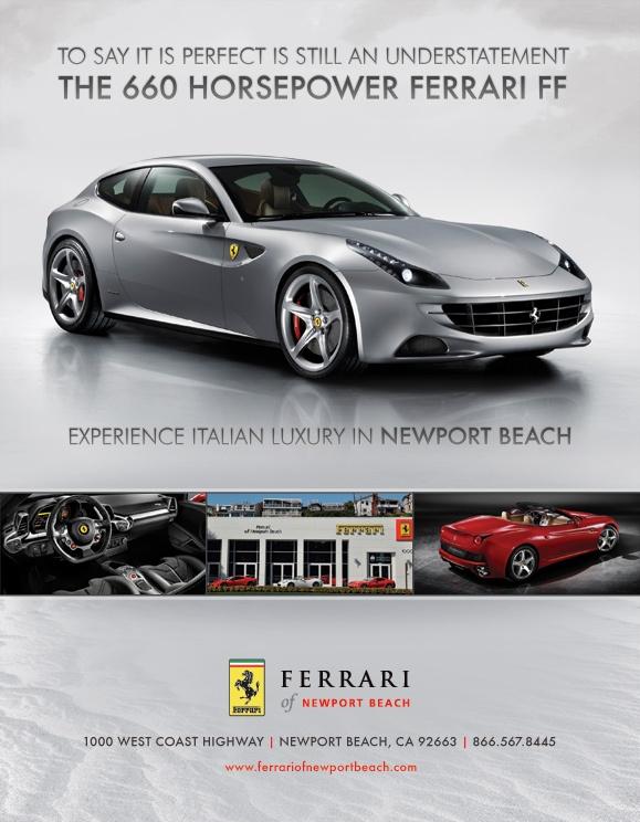 print ad 3 for ferrari of newport beach