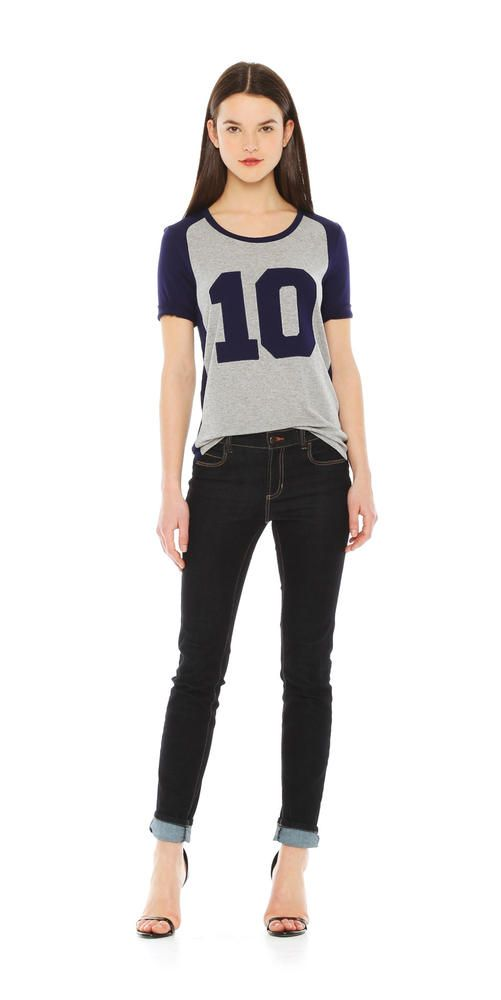 Joe Fresh T-shirt de baseball de style universitaire
