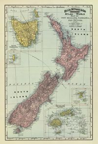 1897 New Zealand Historical Map : The Chart & Map Shop | The Chart & Map Shop